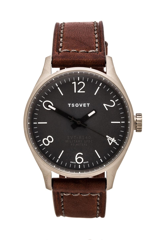 Tsovet SVT-RS40 in Grey w/Dark Brown Leather Straps