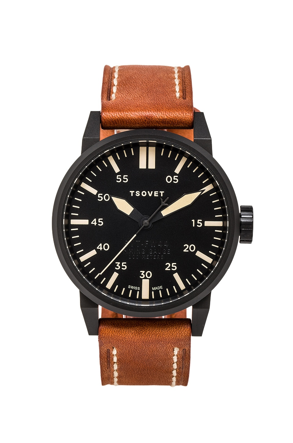 Tsovet SVT-FW44 in Black Brown Leather