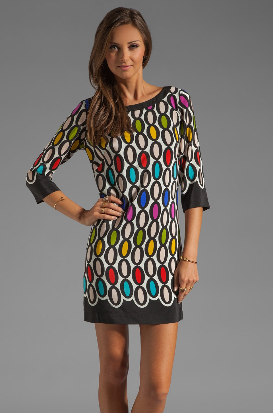 Trina Turk Double Oval Ronson Dress in Multi