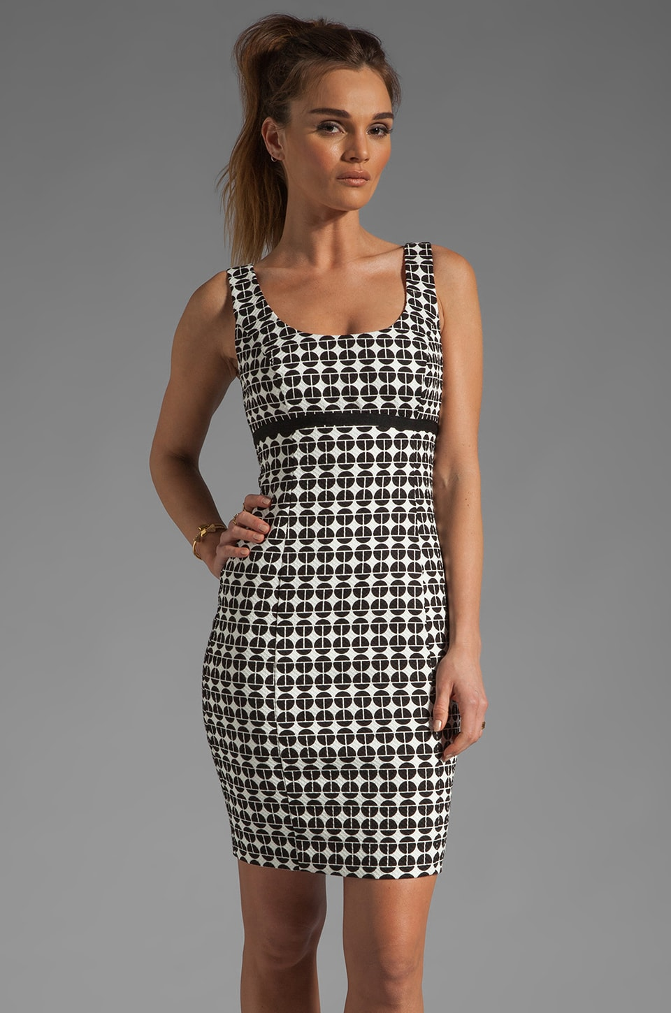 Trina Turk Garreth Dress in Black/White