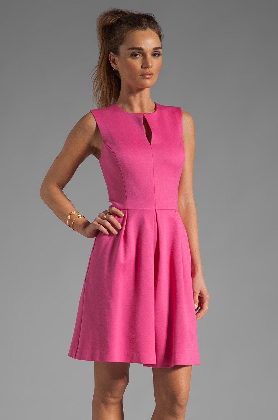 Trina Turk Sunnie Dress in Pink Swizzle