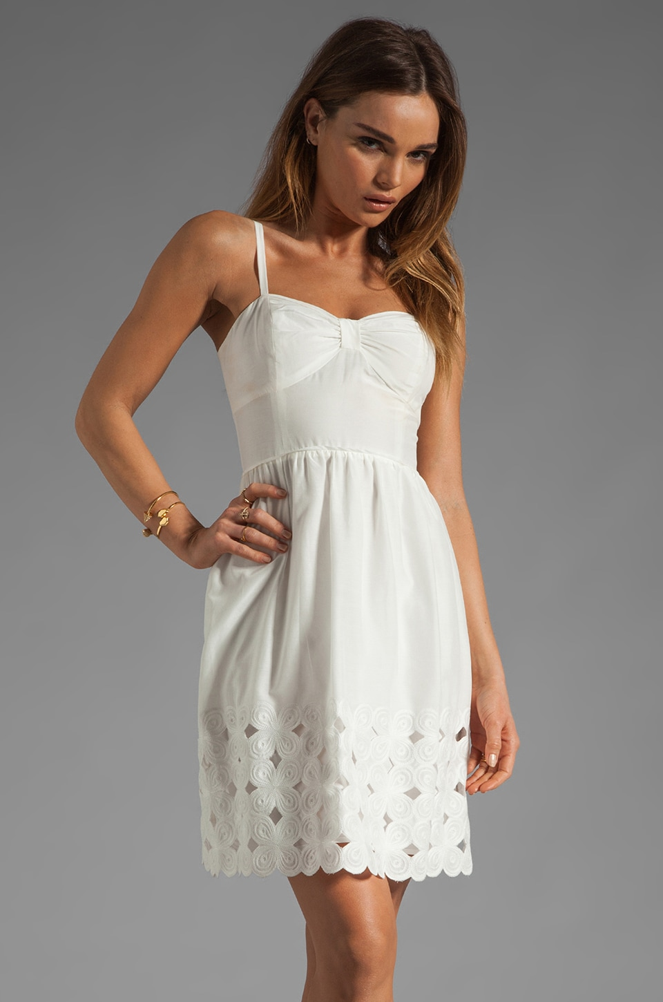 Trina Turk Love Love Dress in White Wash