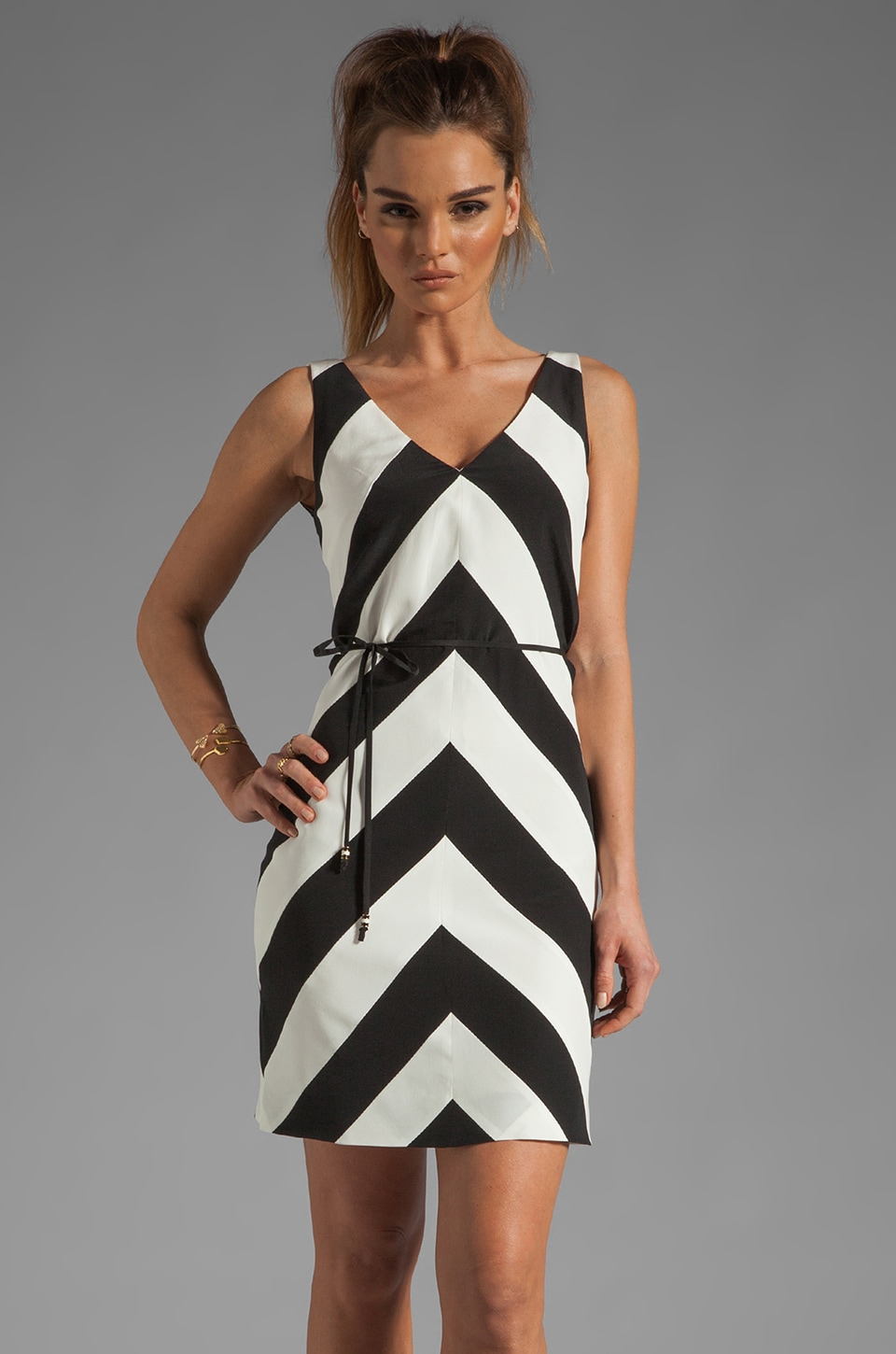 Trina Turk Tally Dress in Black/White