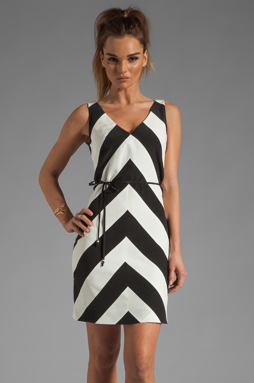 Trina Turk Tally Dress in Black/White