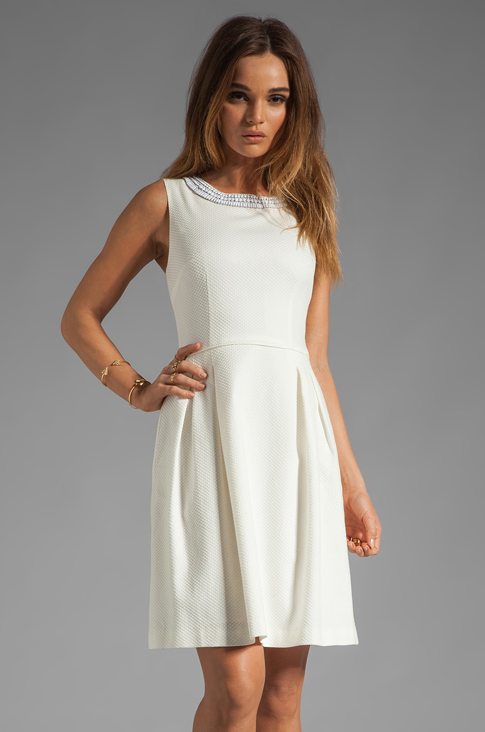 Trina Turk Seles Dress in White Wash