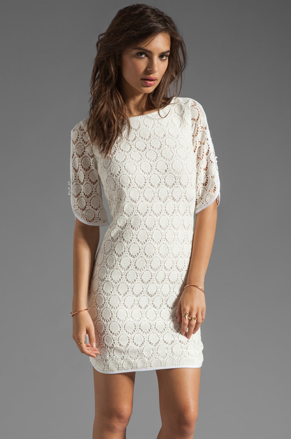 Trina Turk Bonfire Dress in White Wash