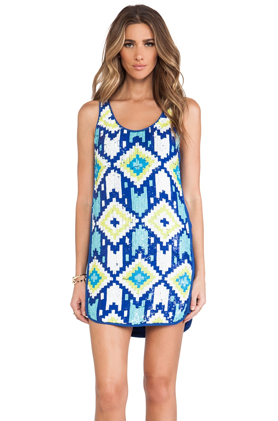 Trina Turk Lore Dress in Mirage Blue