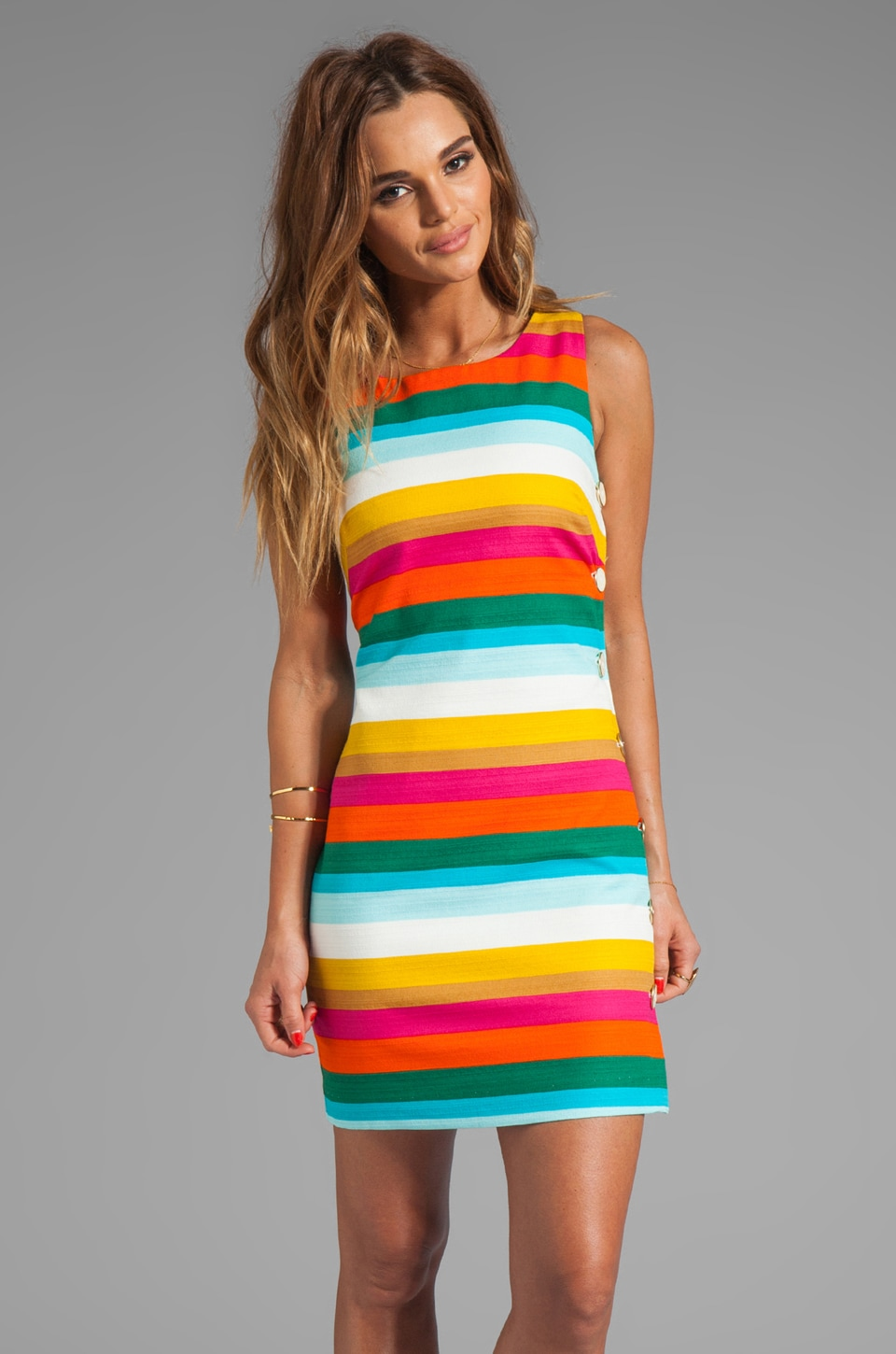 Trina Turk Skooter's Stripe Cotton Emmie Dress in Multi