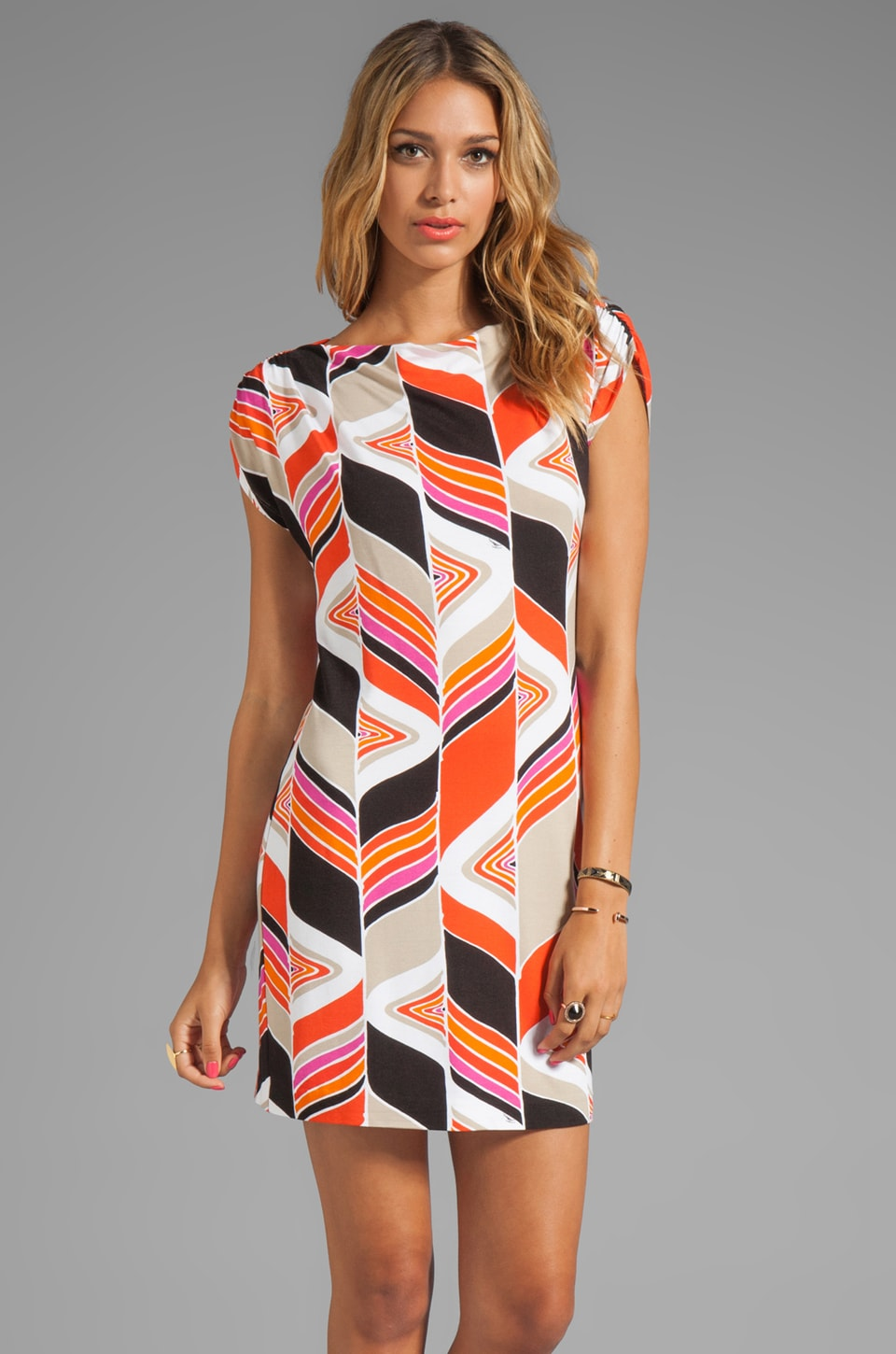 Trina Turk Mod Wave Arena Mini Dress in Coral Kiss