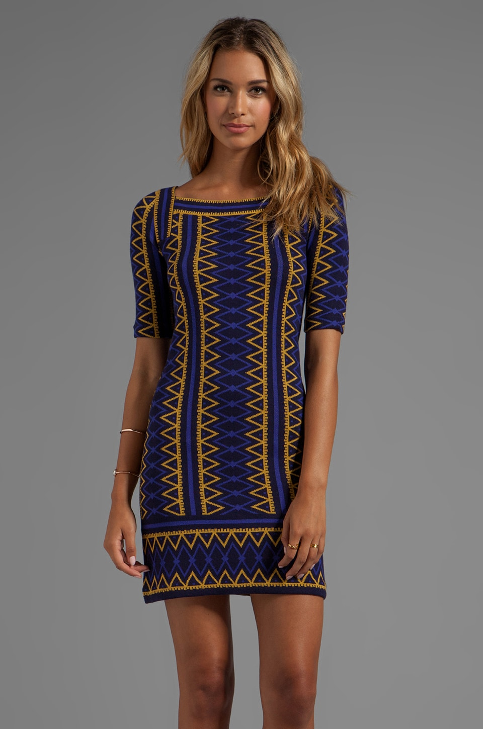 Trina Turk Milies Sweater Dress in Maple Gold