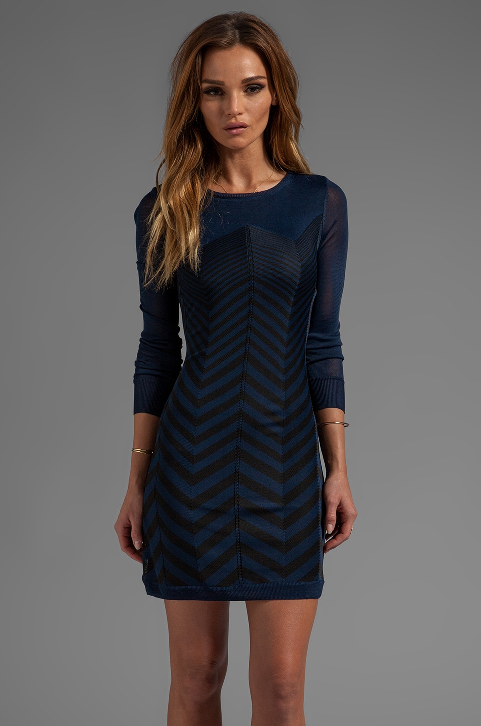 Trina Turk Sharyn Sweater Dress in Midnight
