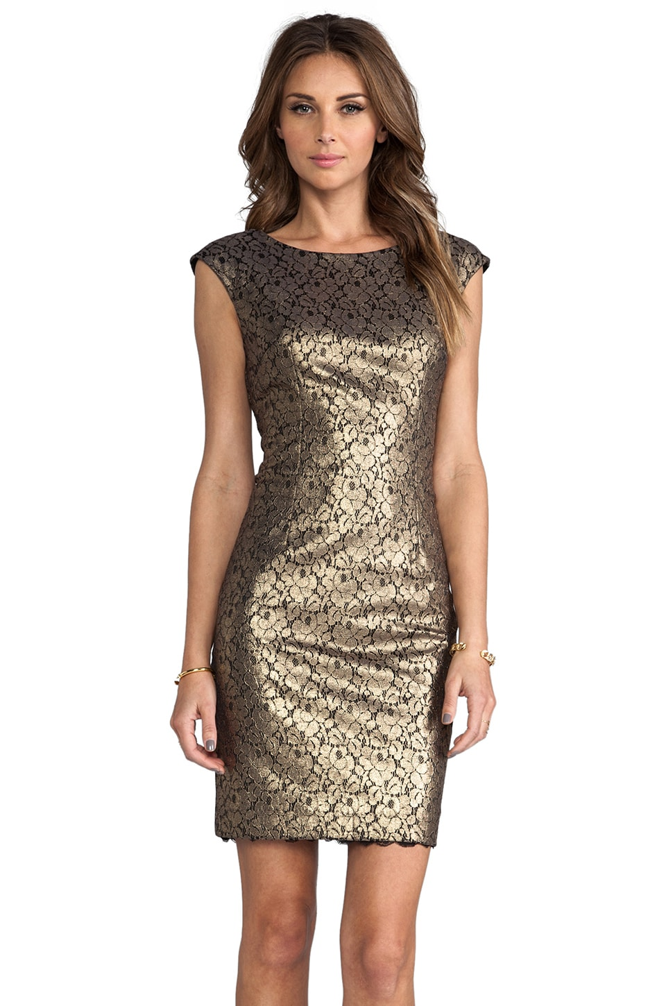 Trina Turk Meadows Dress in Bronze