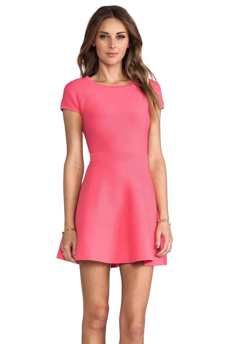 Trina Turk Cozumel Dress in Hot Coral