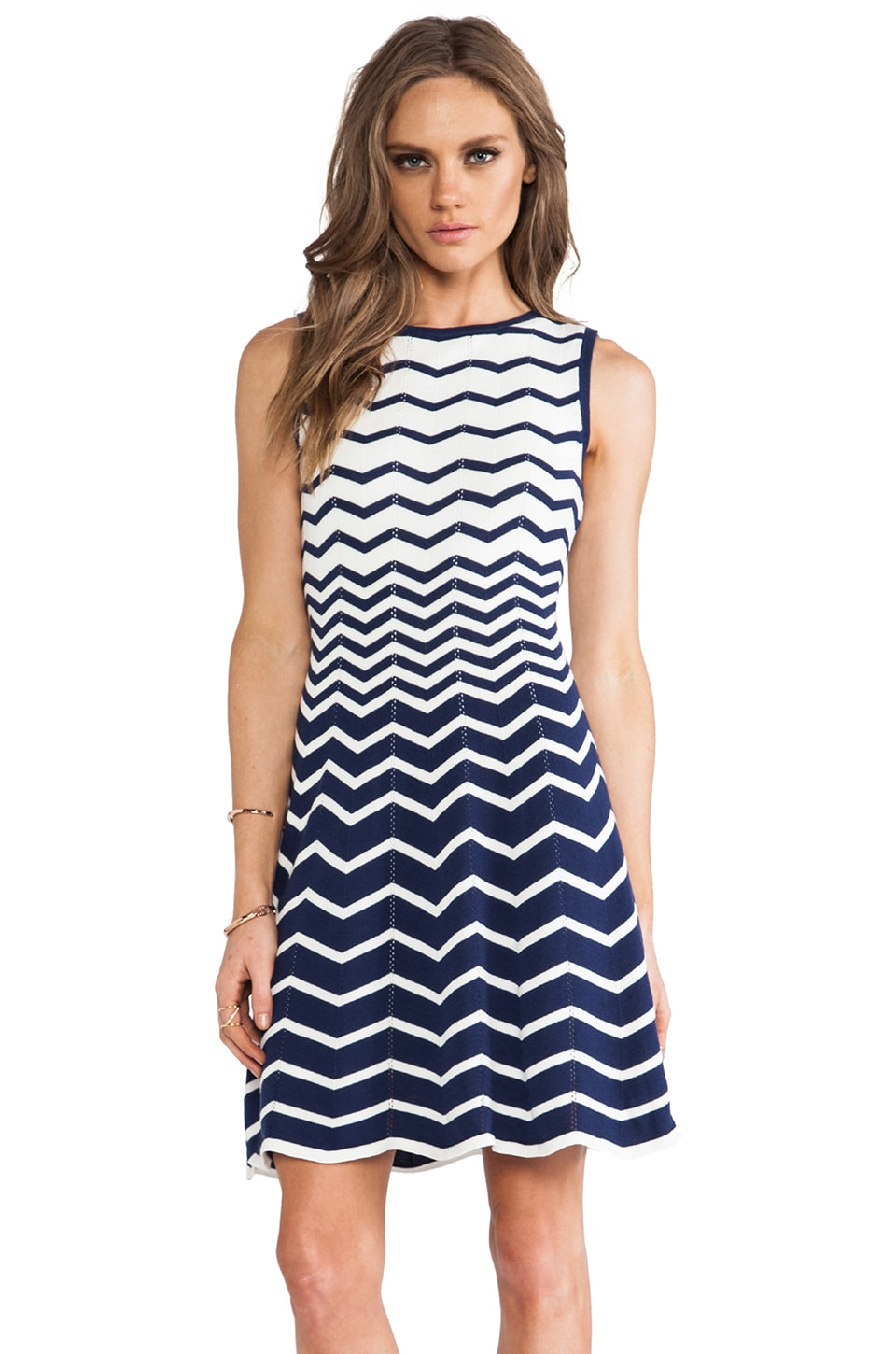 Trina Turk Martinique Dress in Navy & Whitewash