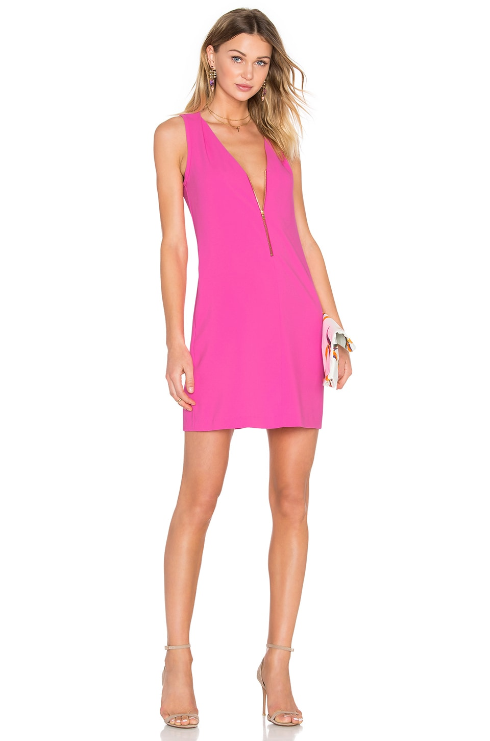 Trina Turk Banning Dress in Flamingo