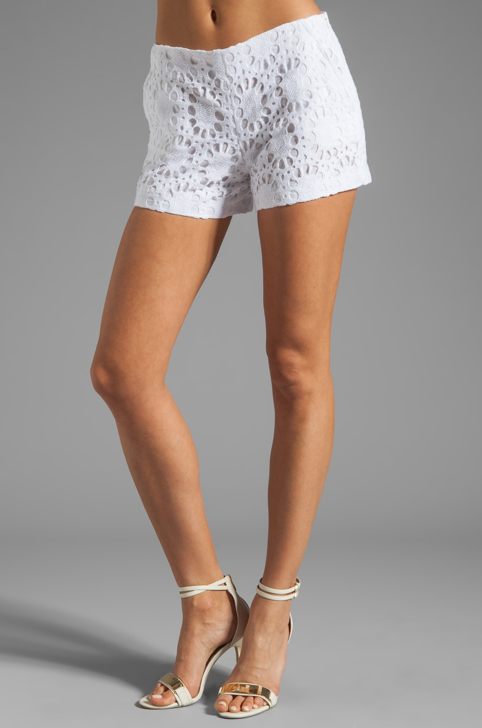 Trina Turk Link Crochet Shorts in White