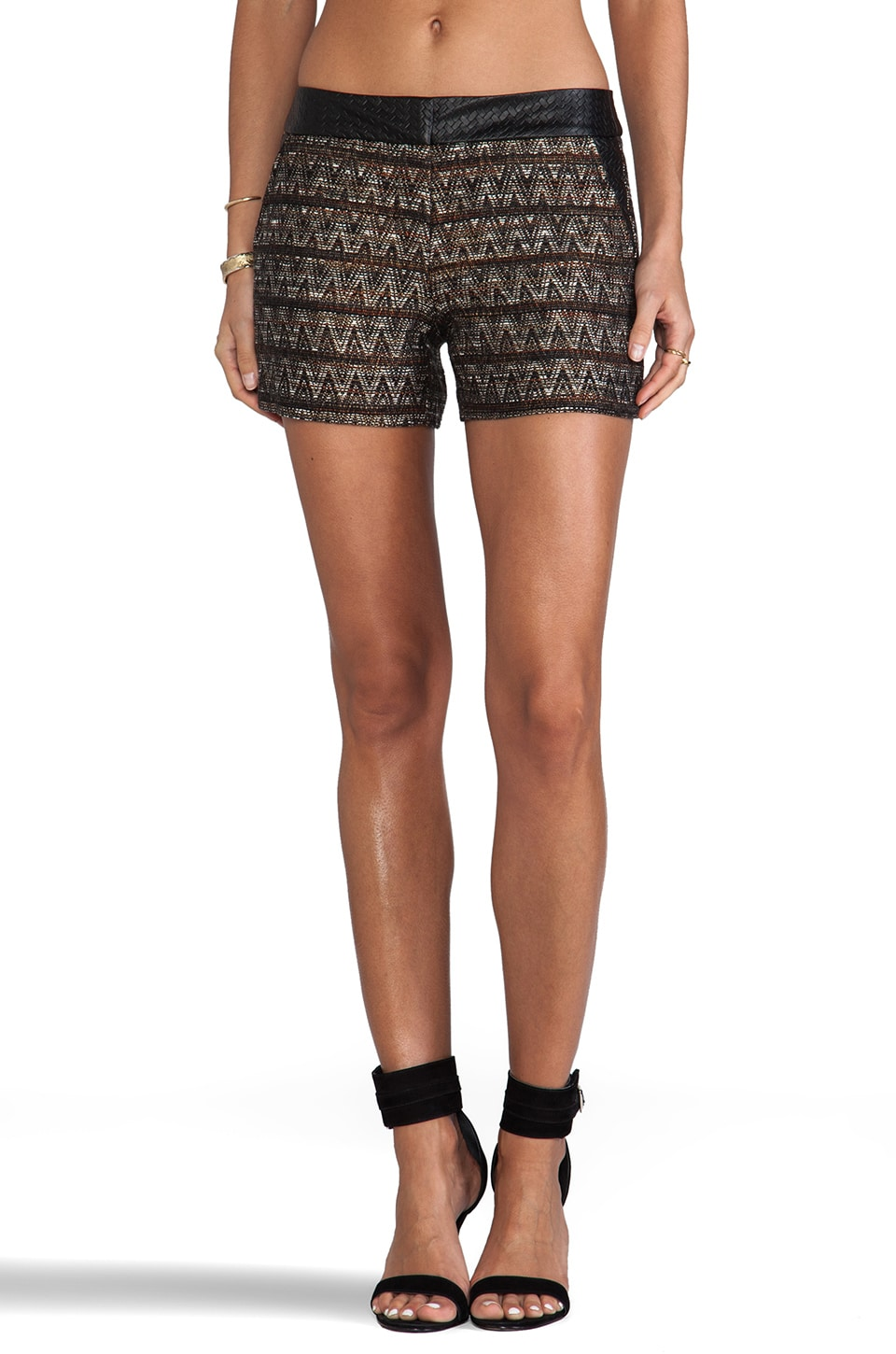 Trina Turk Borrego Tweed Gathering Short in Multi
