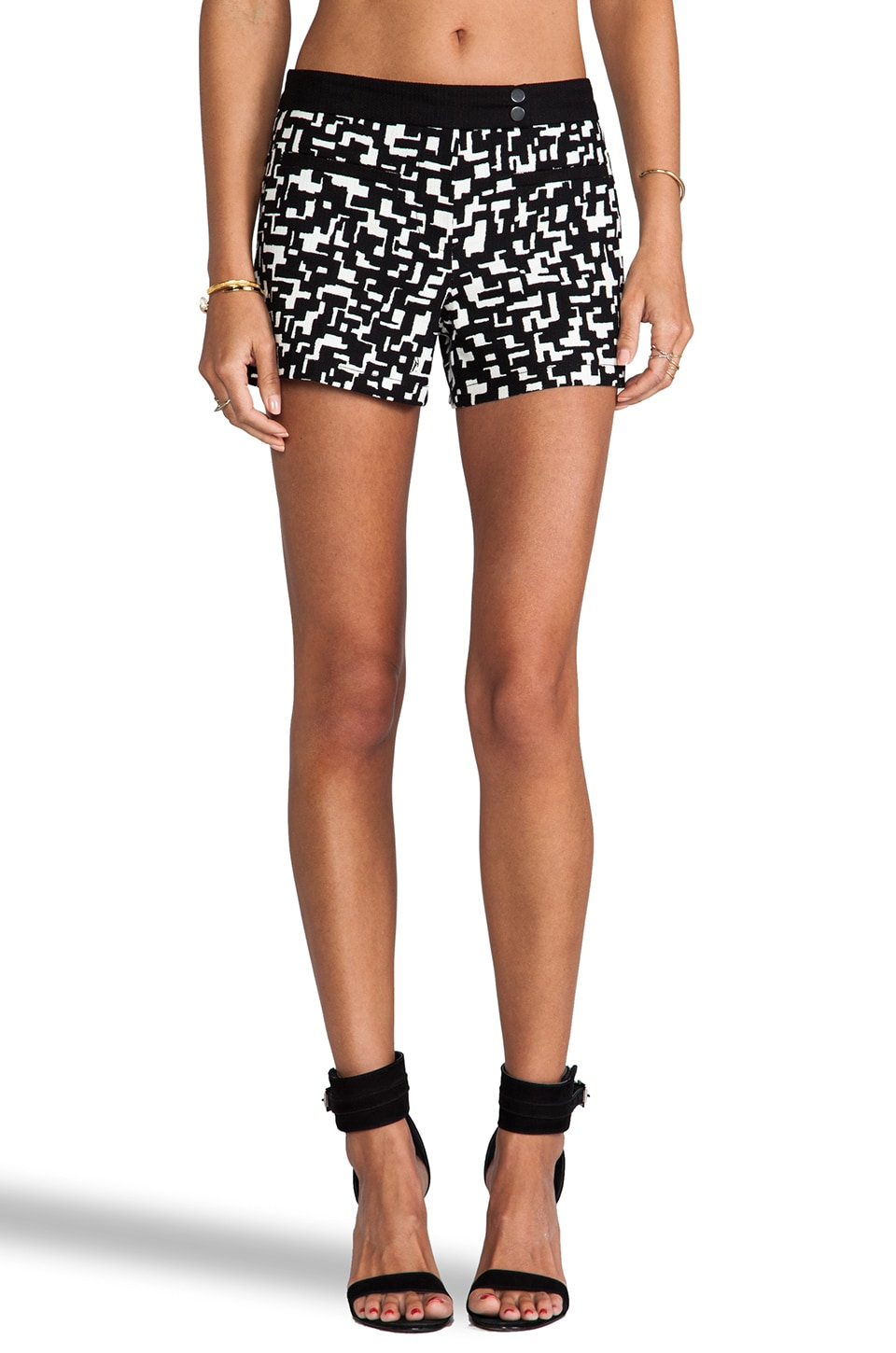 Trina Turk Elma Shorts in Black Print