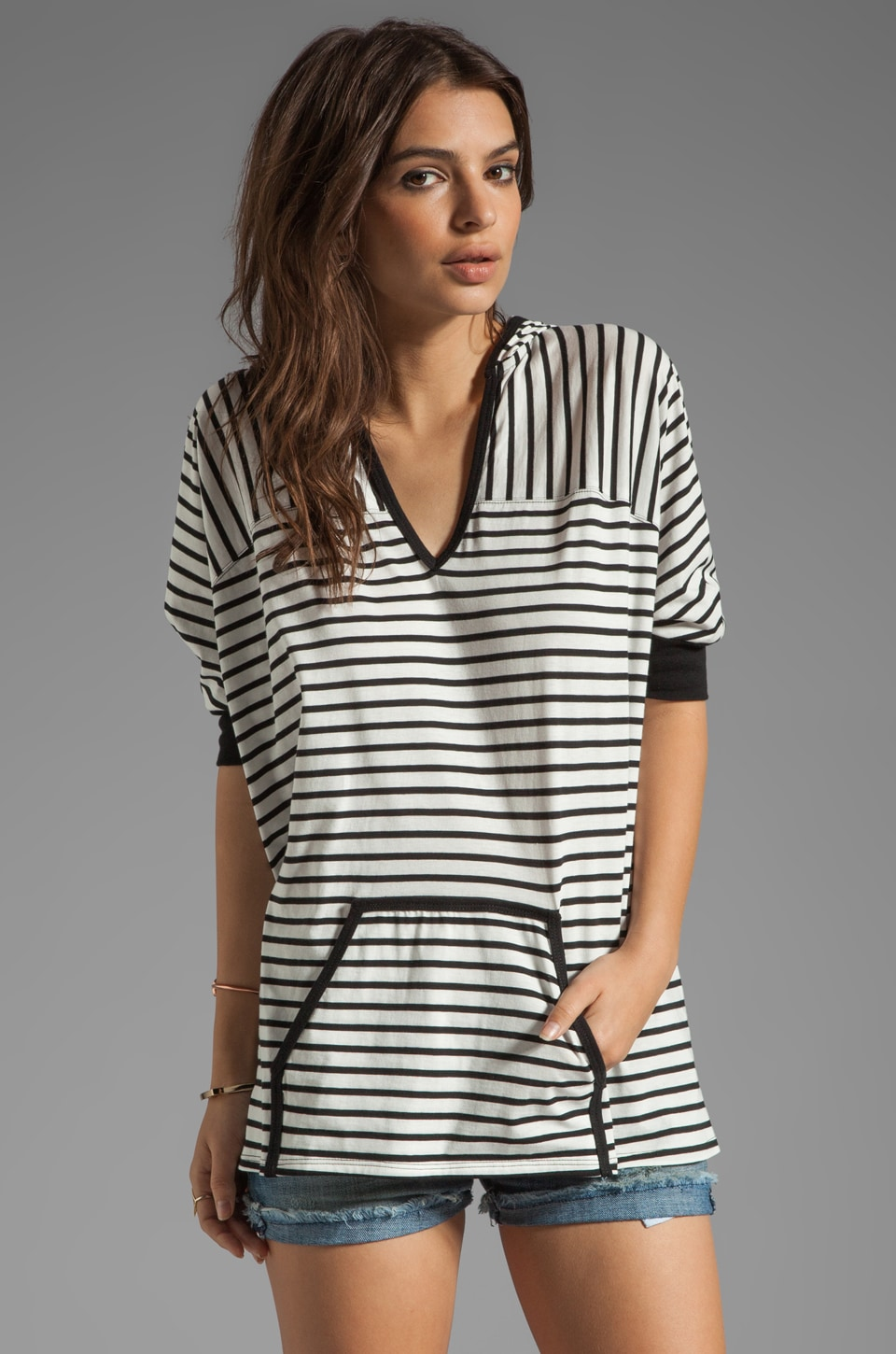 Trina Turk Surfin' Stripe Hooded Poncho