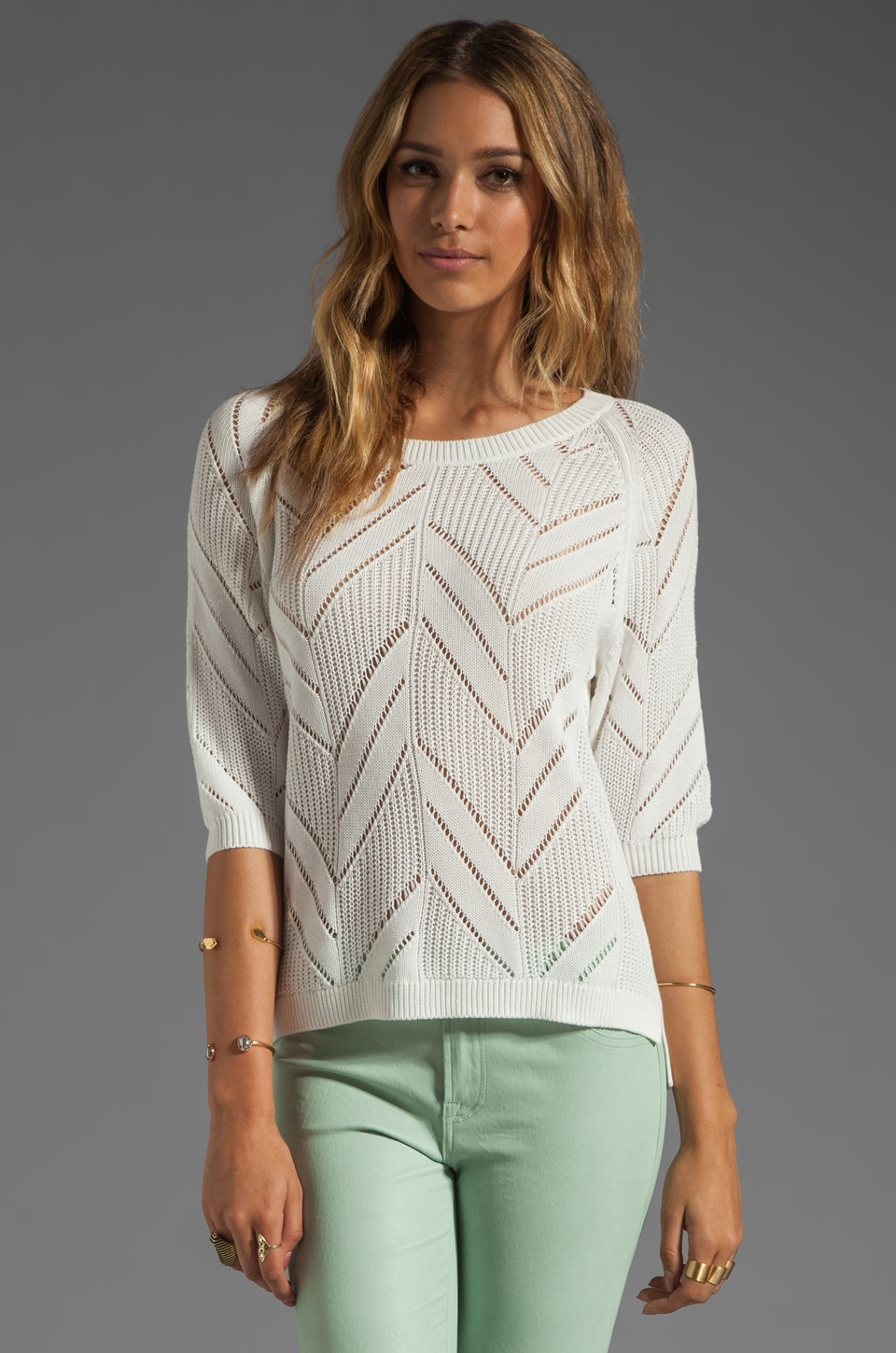 Trina Turk Oneil Sweater in Whitewash