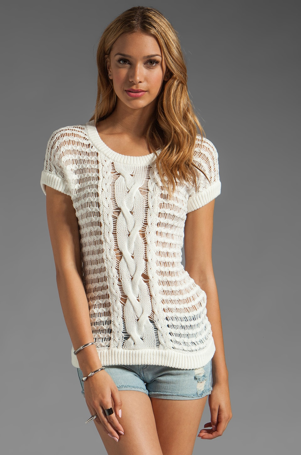 Trina Turk Owens Sweater in White Wash