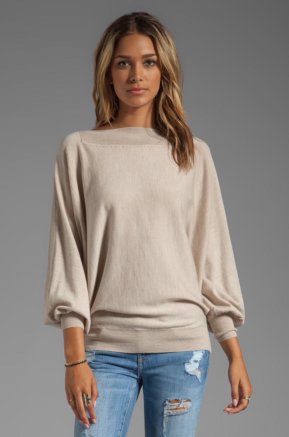 Trina Turk Halima Sweater in Beige