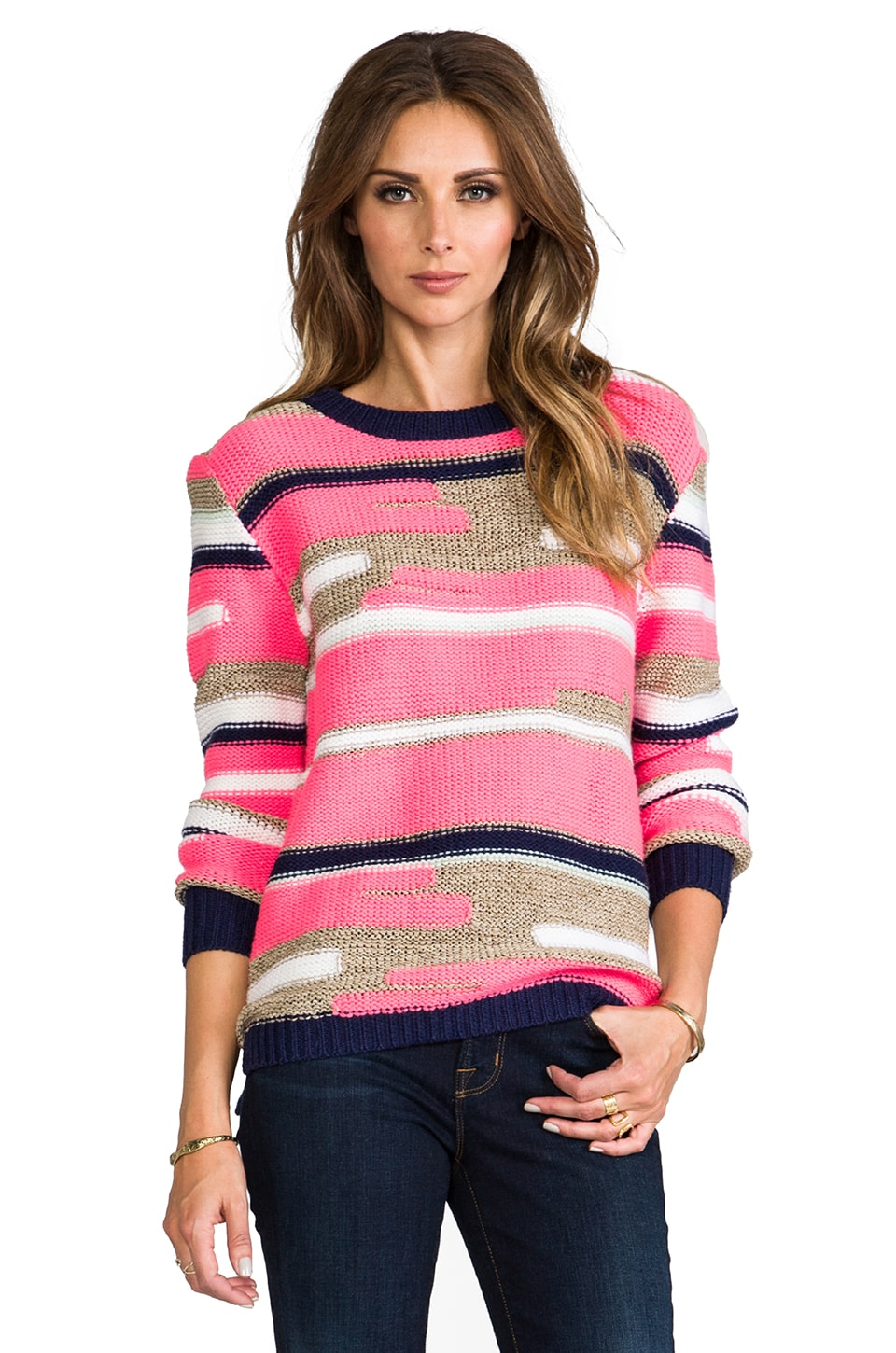 Trina Turk Disah Merina/Nylon Sweater in Multi