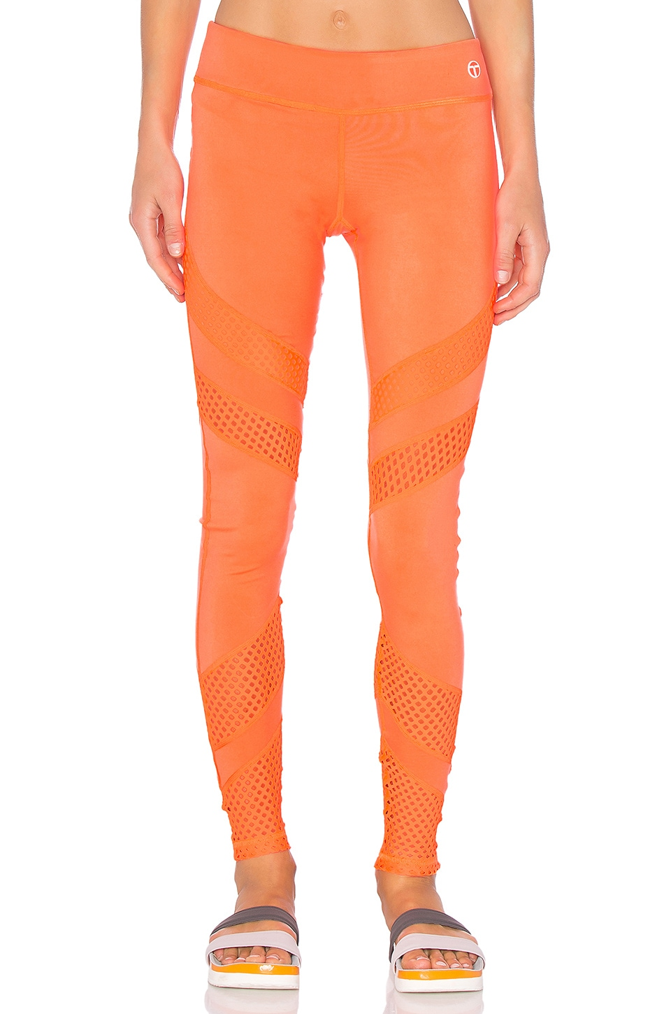 Lazer Cut Solids Legging by Trina Turk
