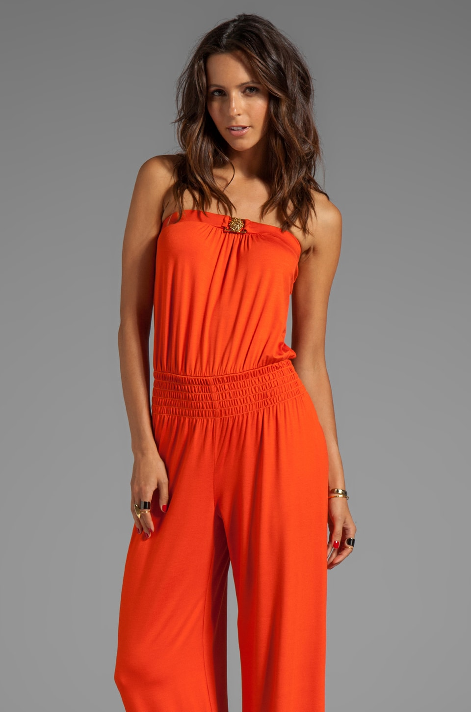 Trina Turk Must Have Jersey Garden Jumpsuit in Coral Kiss