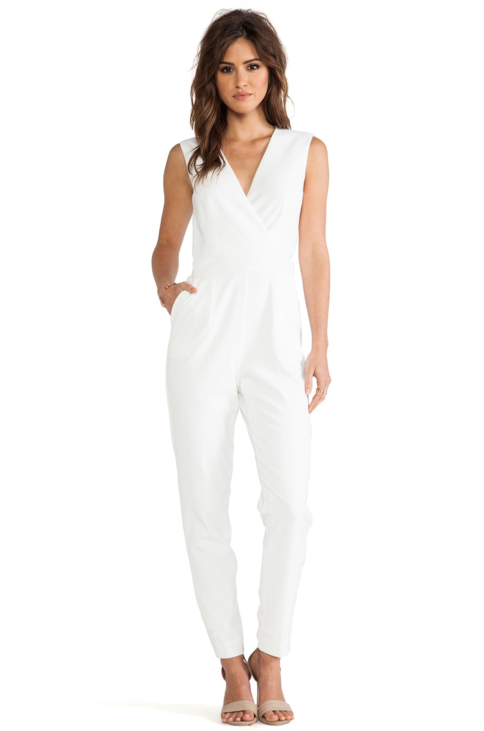 Trina Turk Lindsay Jumpsuit in Whitewash