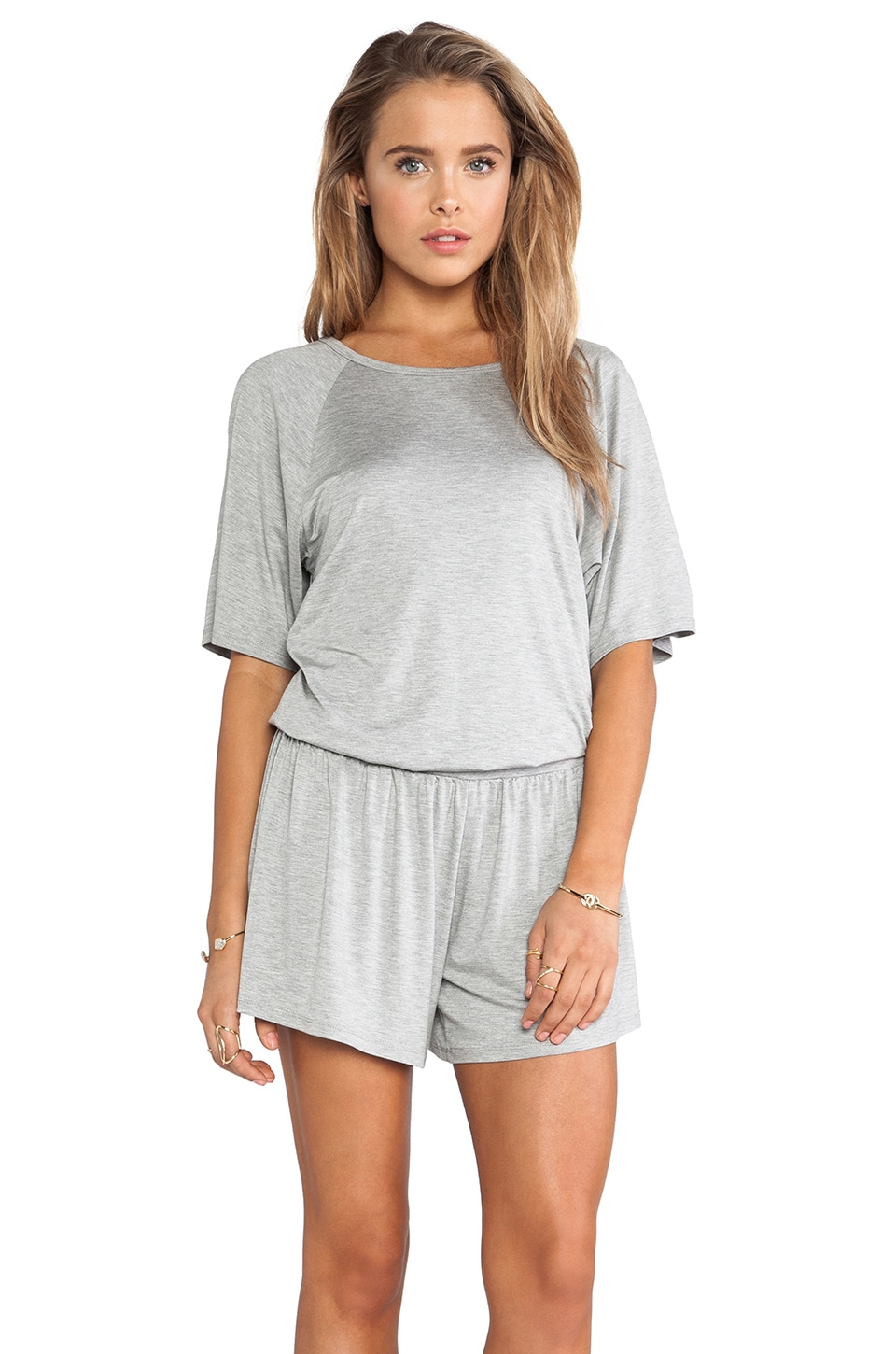 Trina Turk Lucille Romper in Heather Grey