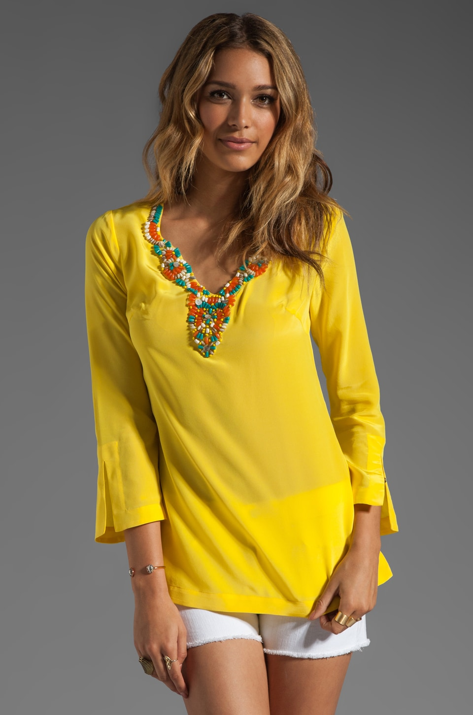 Trina Turk Sunfish Blouse in Sun