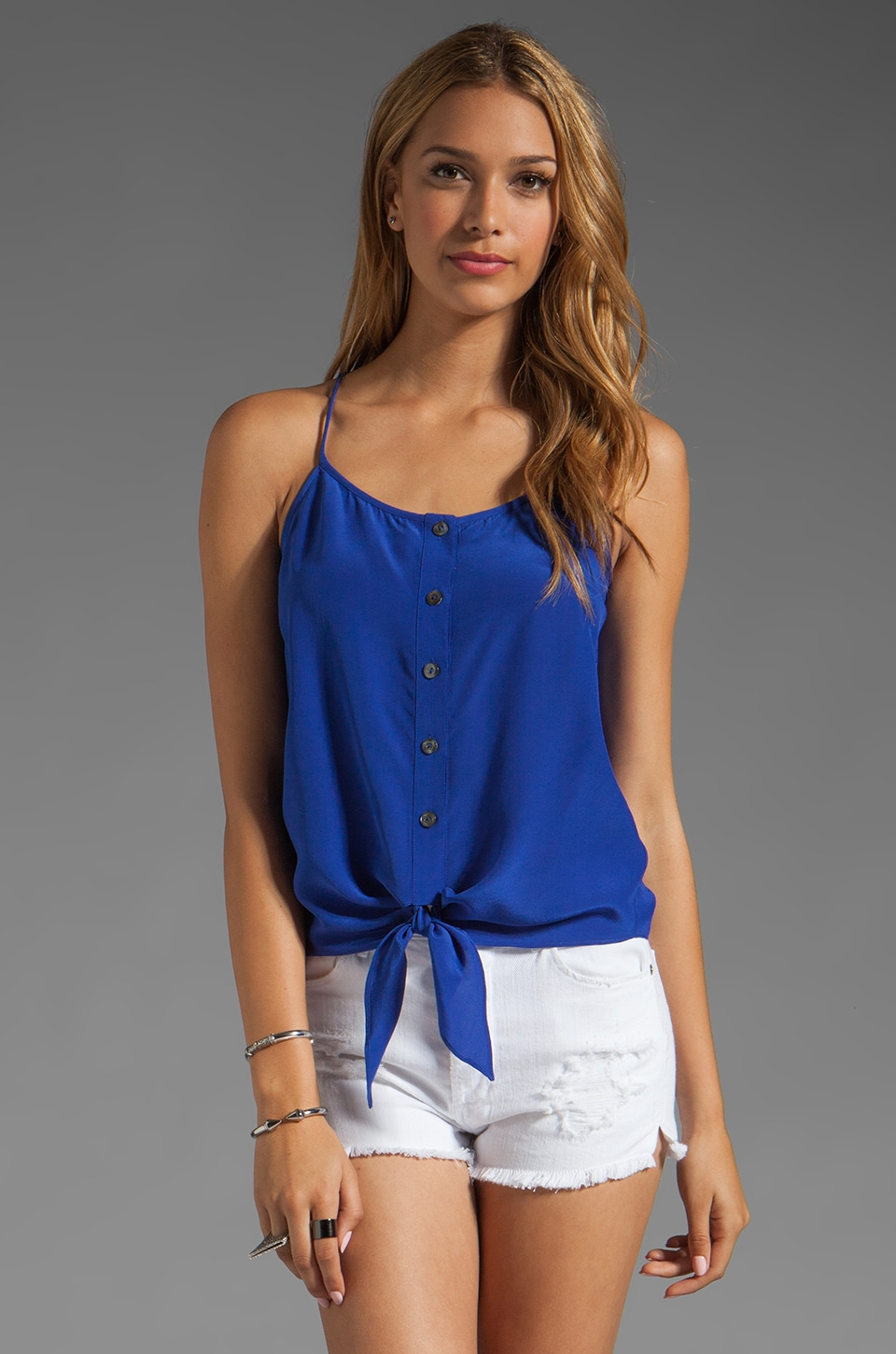 Trina Turk Helli Tank in Mirage Blue