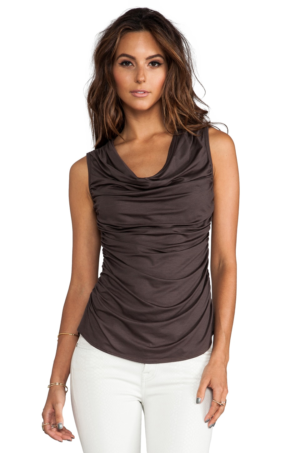 Trina Turk Must Have Jersey Kace Top in Rare Earth