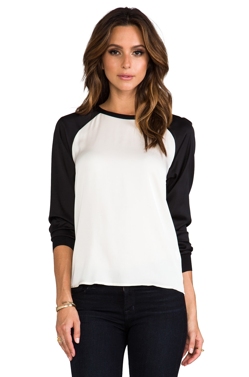 Trina Turk Kelsey Top in Black/Ivory