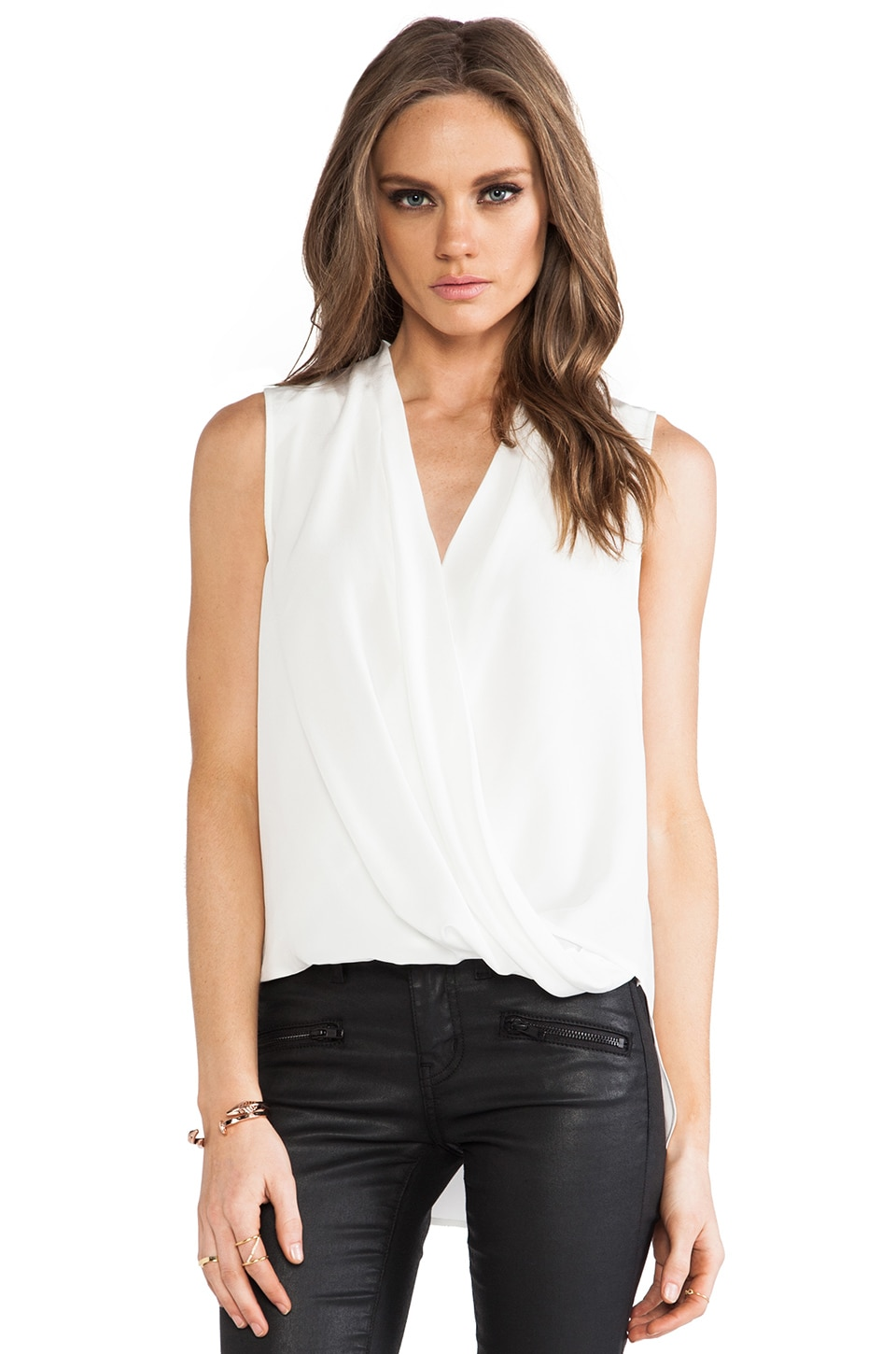 Trina Turk Muriel Top in Whitewash