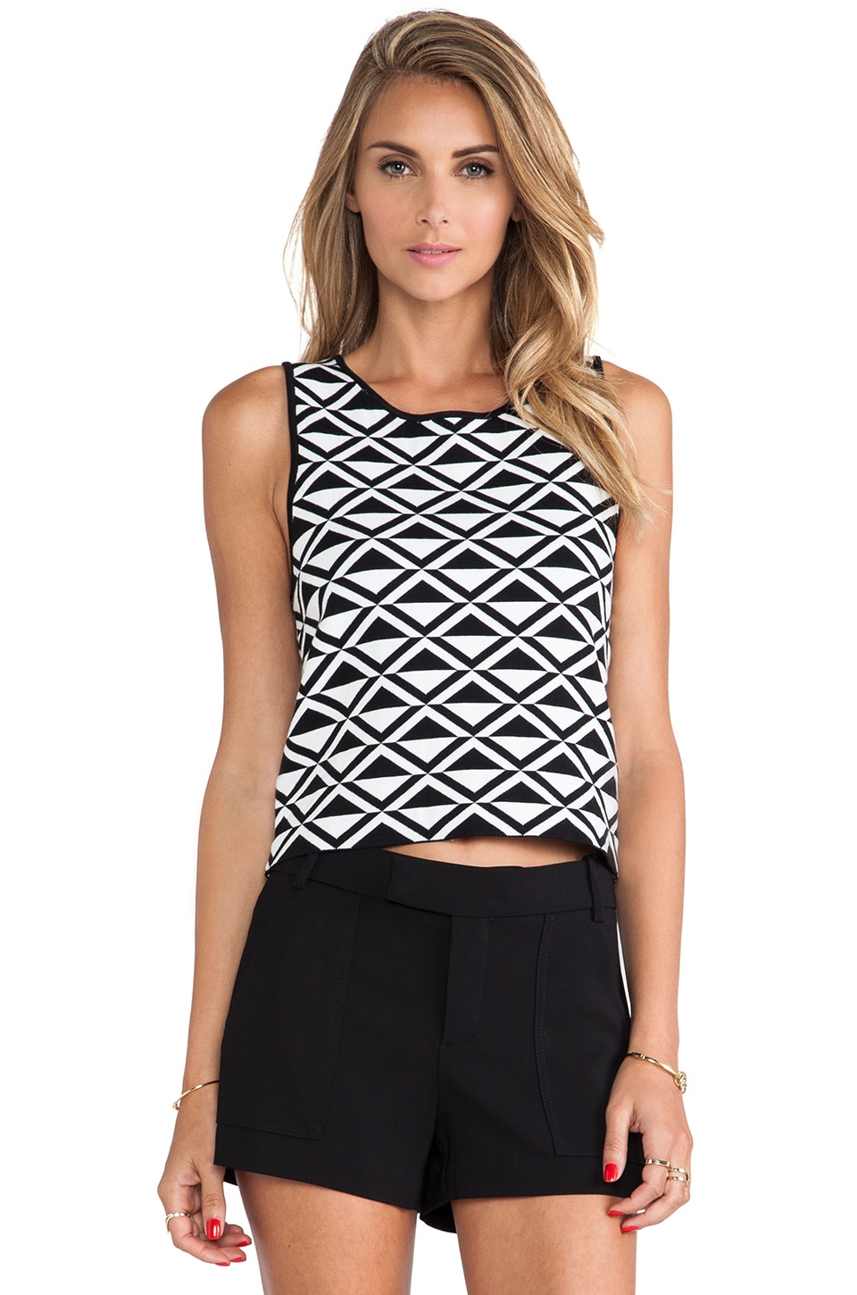 Trina Turk Kinsley Tank in Black