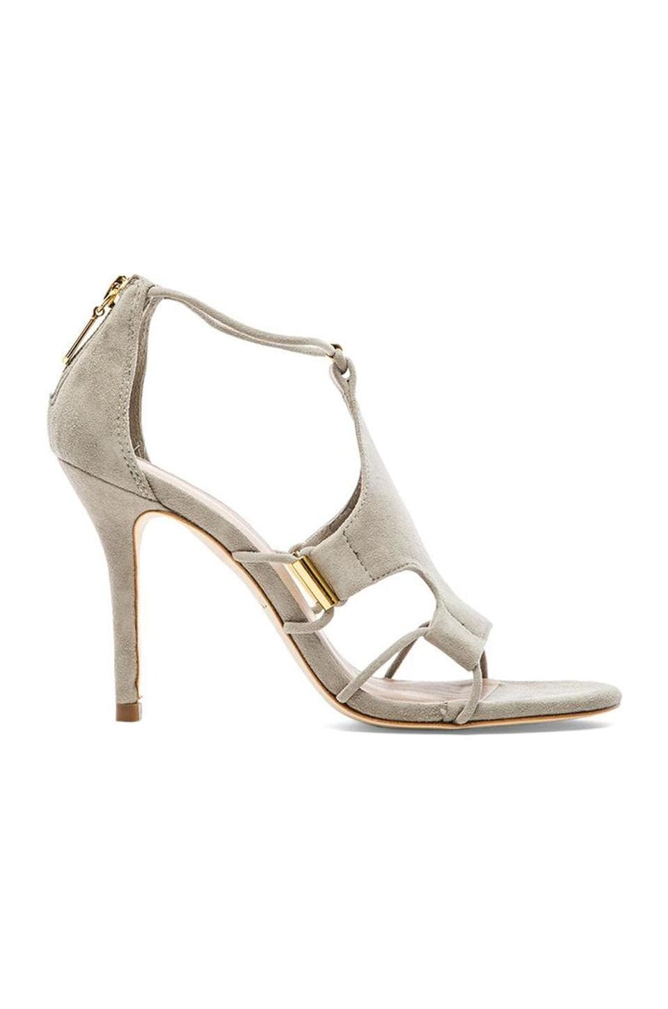 Trina Turk Lucca Heel in Taupe Suede