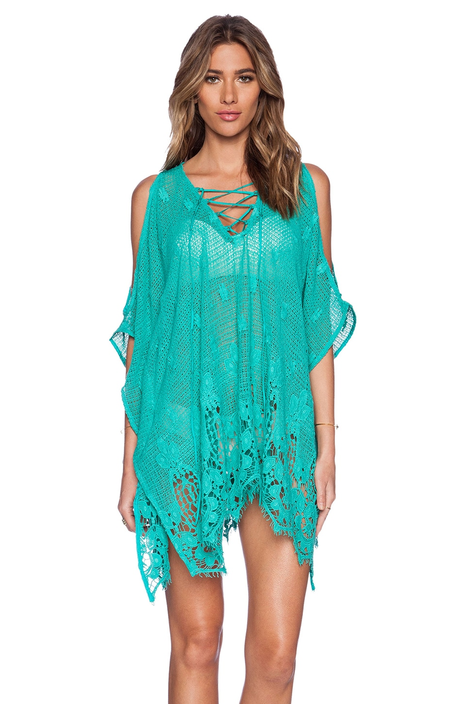 Tt Beach Swenton Caftan in Oasis Green