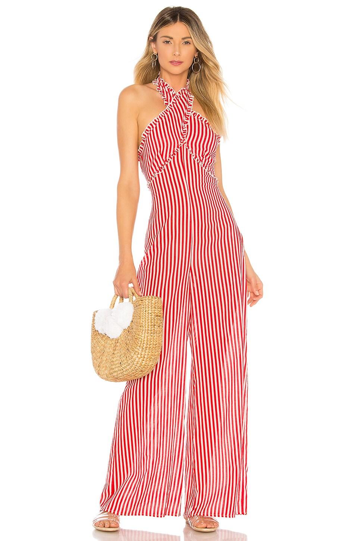 Tularosa Jackie Jumpsuit in Red Stripe