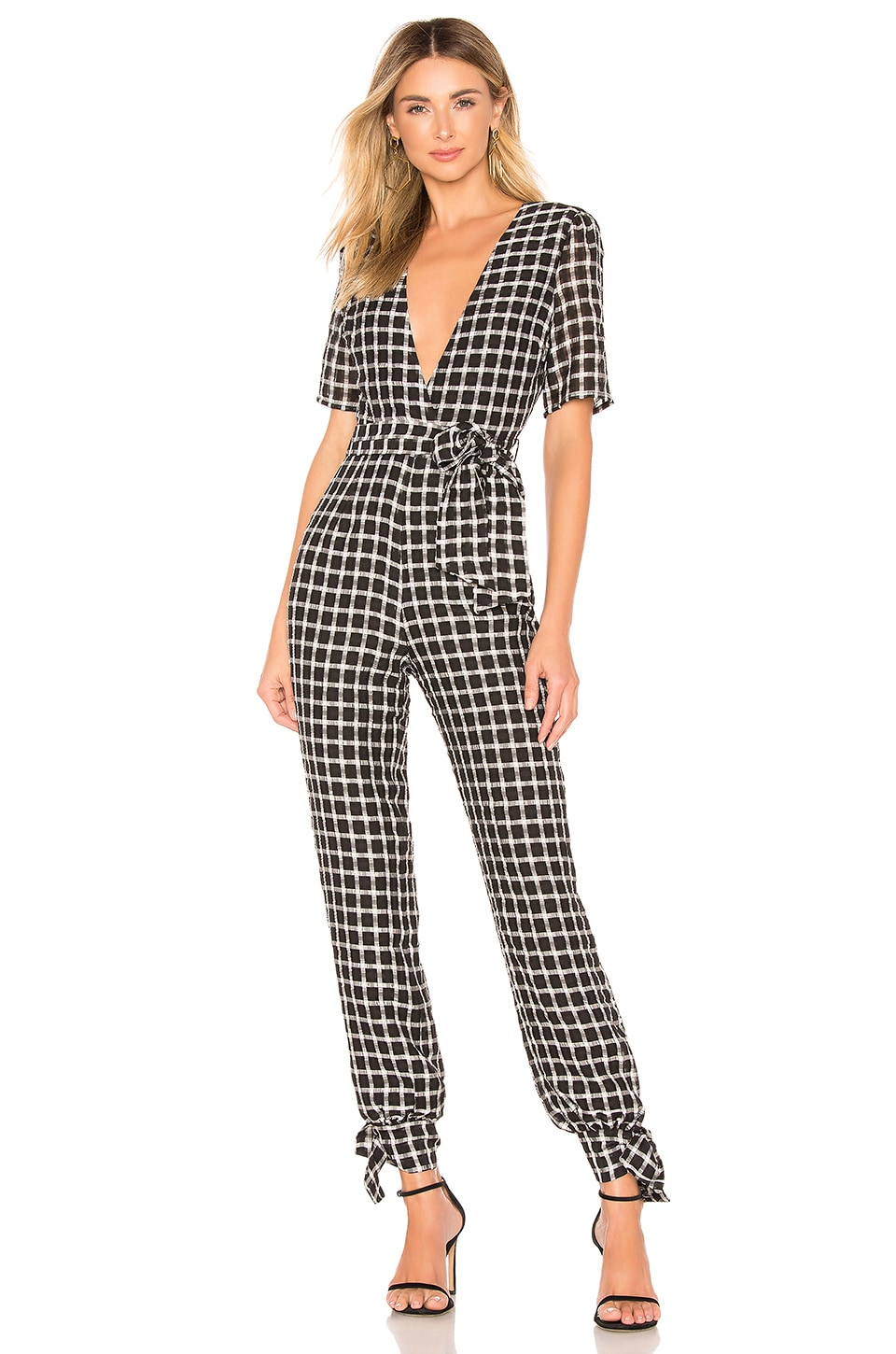 Tularosa Hayes Jumpsuit in Black & White