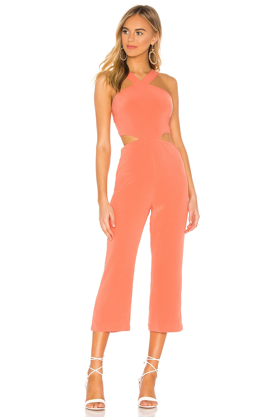 Tularosa Denise Jumpsuit in Salmon