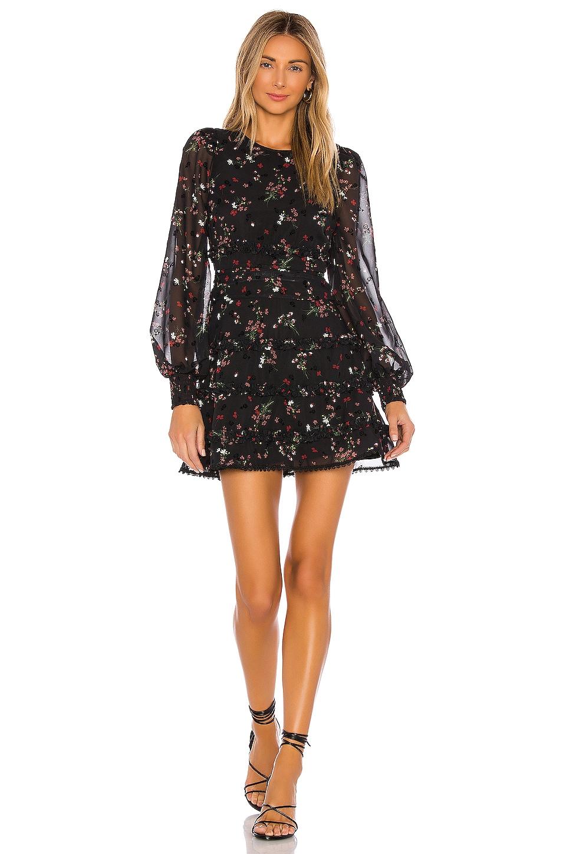 Tularosa Aiden Dress in Black Poppy Floral