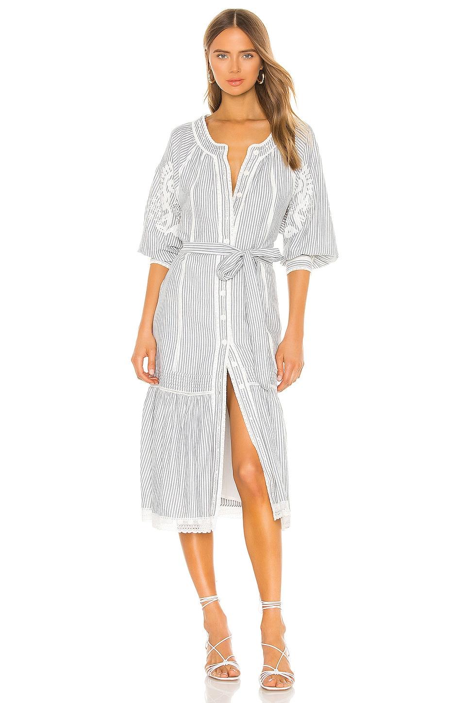 Tularosa Kona Dress in Navy Stripe