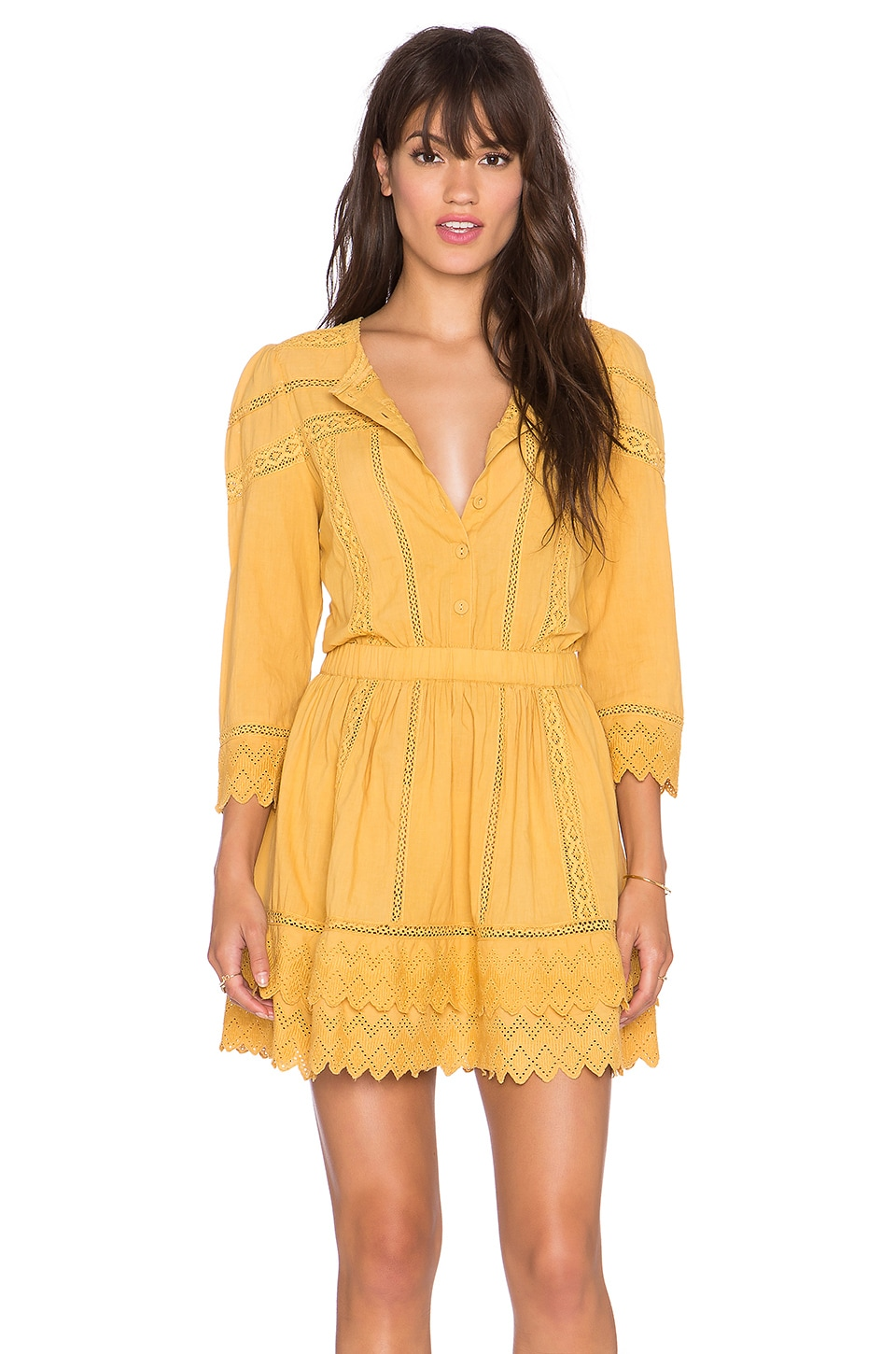 Tularosa Belmont Dress in Marigold