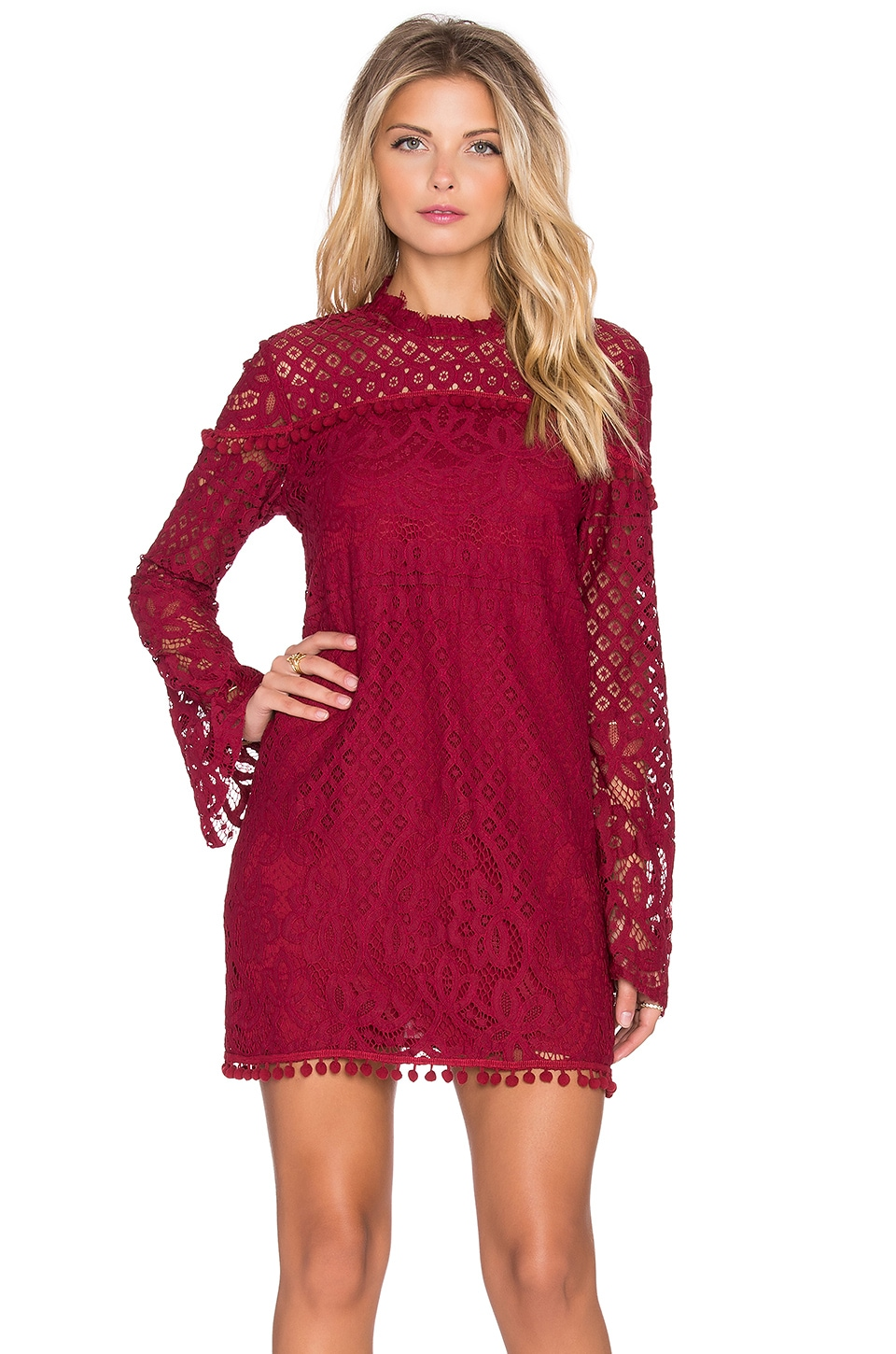Tularosa x REVOLVE Matilda Lace Dress in Wine