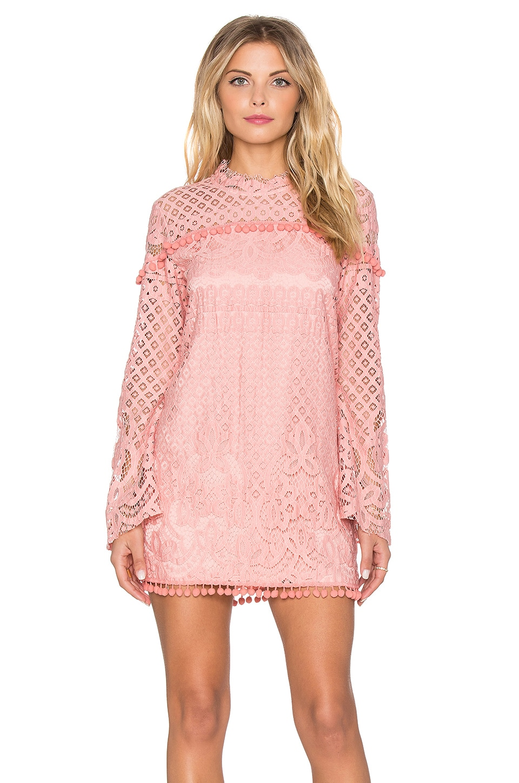 Tularosa x REVOLVE Matilda Lace Dress in Blush