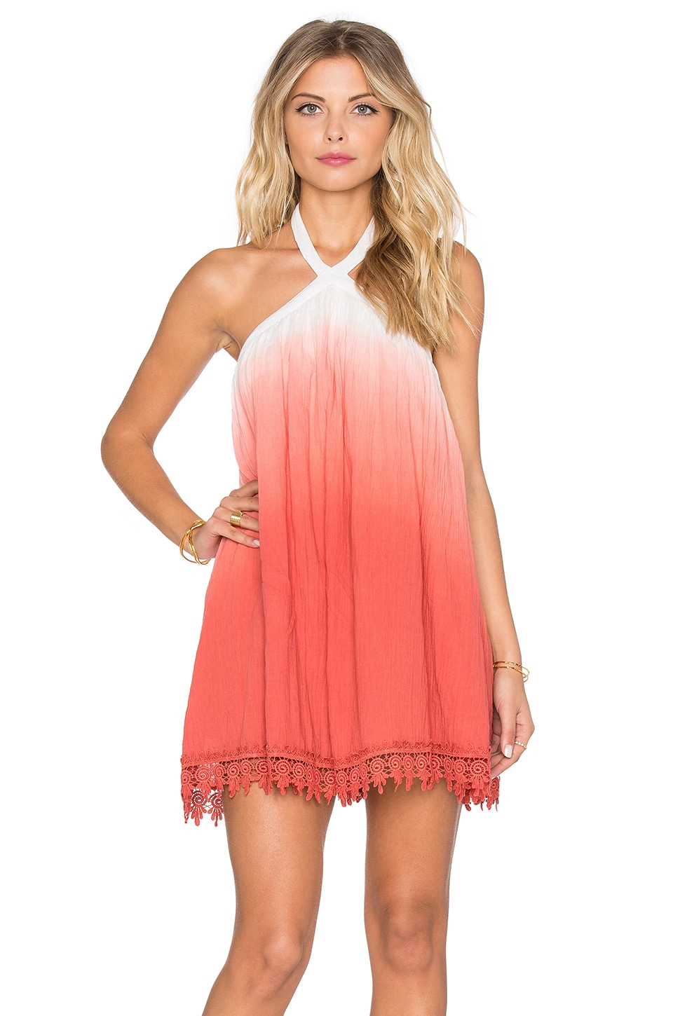 Tularosa Holden Dress in Watermelon Ombre