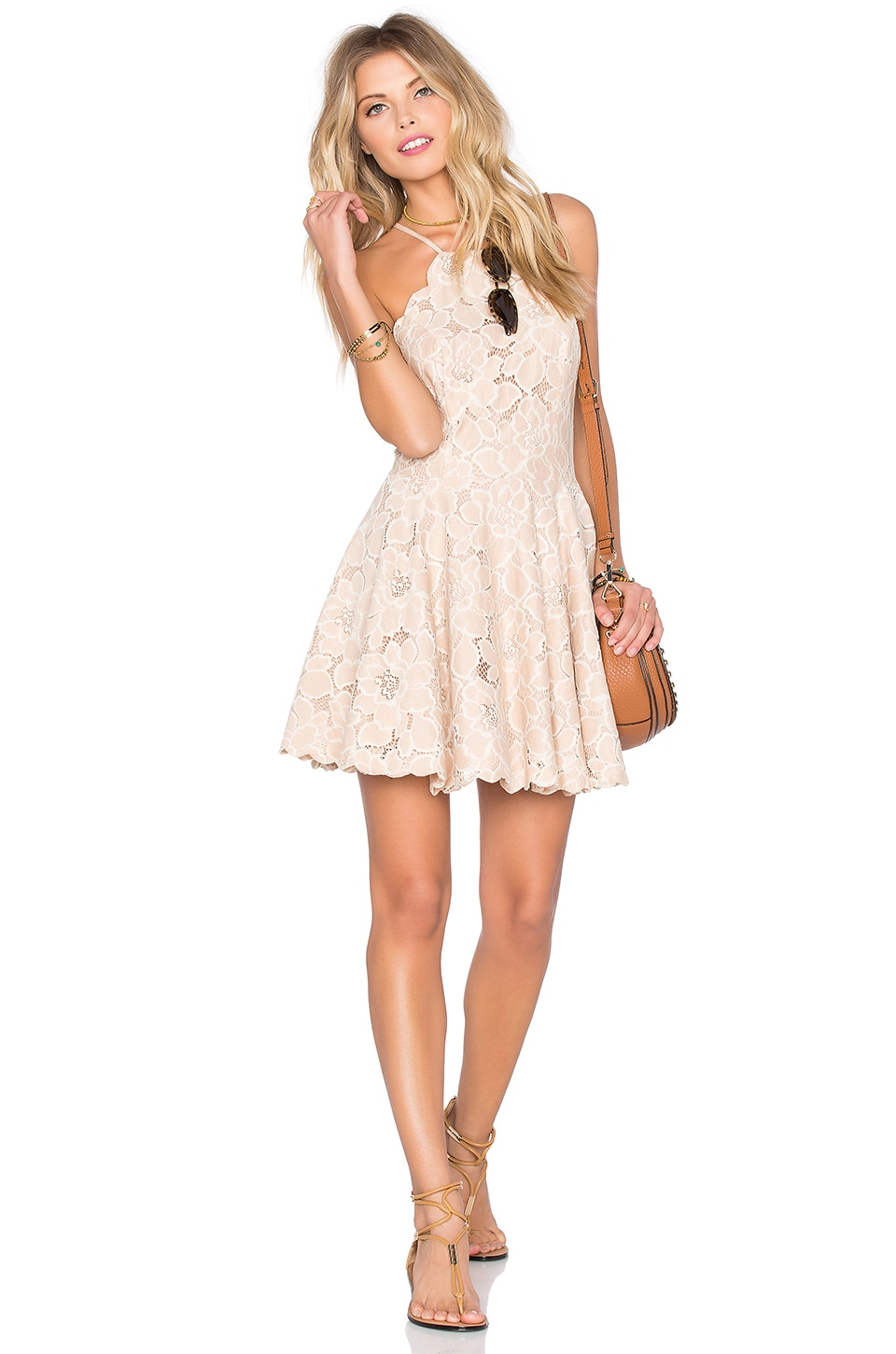 Tularosa Cyrus Dress in Pale Blush