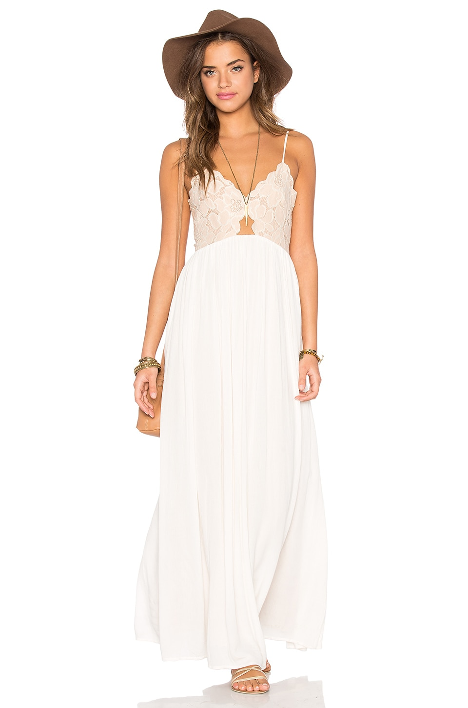Tularosa Bryce Maxi Dress in Pale Blush